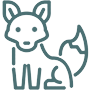 Fuchs Grafik Vektor Linie Icon Wildtierhilfe